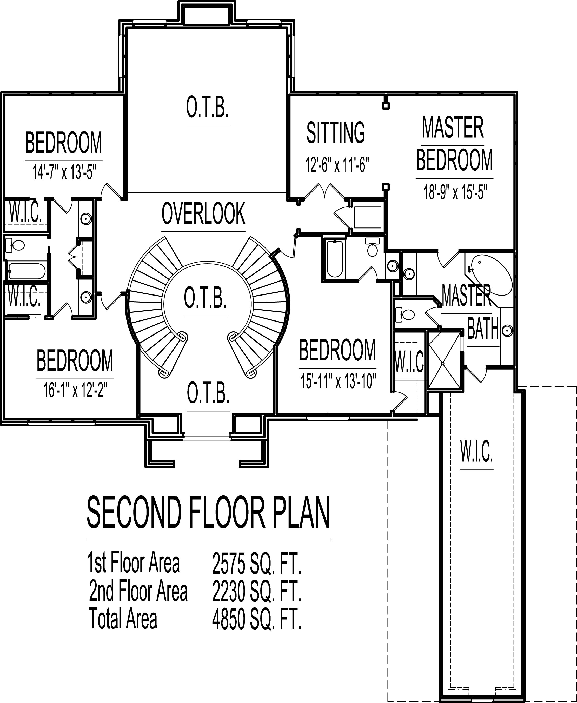 Best Kitchen Gallery: 4500 Square Foot House Floor Plans 5 Bedroom 2 Story Double Stairs of Circular Room Home Plan on rachelxblog.com