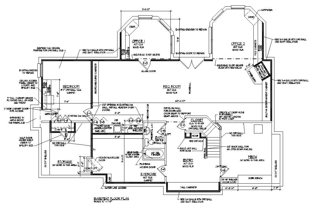Blueprints Drawings Fireplace