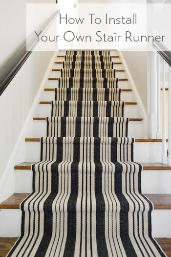 How To Install A Stair Runner Yourself Young House Love   Best Carpet Runners For Stairs   Bound   Stylish   Mid Century   Hollywood Style   Classic