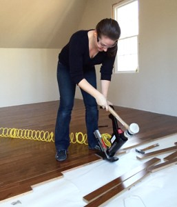 How To Install Hardwood Flooring   Young House Love install hardwood flooring sherry nailing