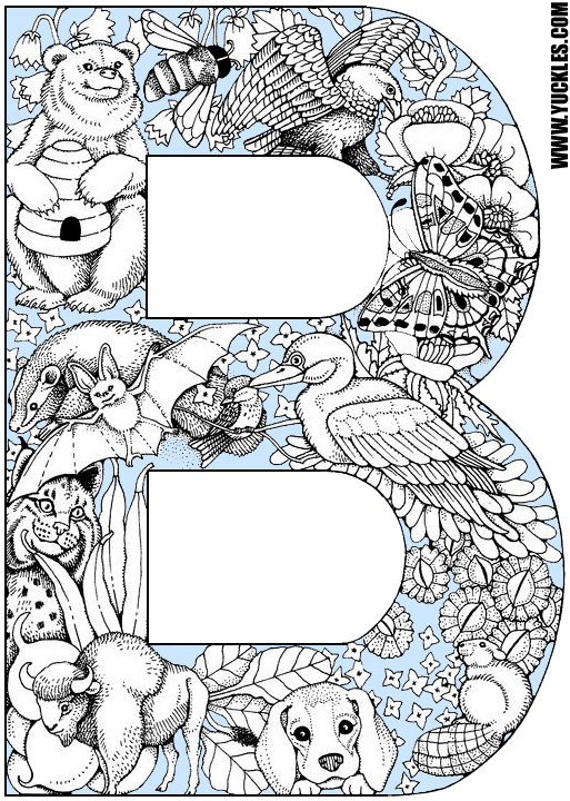 b coloring page # 14