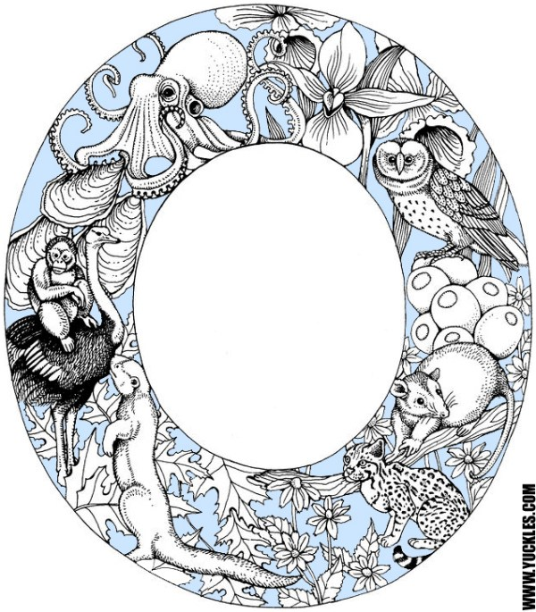 letter o coloring pages # 42