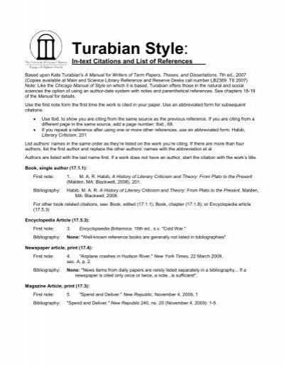 Sample Paper Page Cover Turabian Style