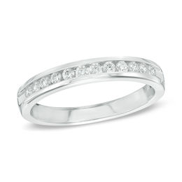 Wedding Bands   Wedding   Zales Outlet T W  Diamond Anniversary Band in 14K White Gold