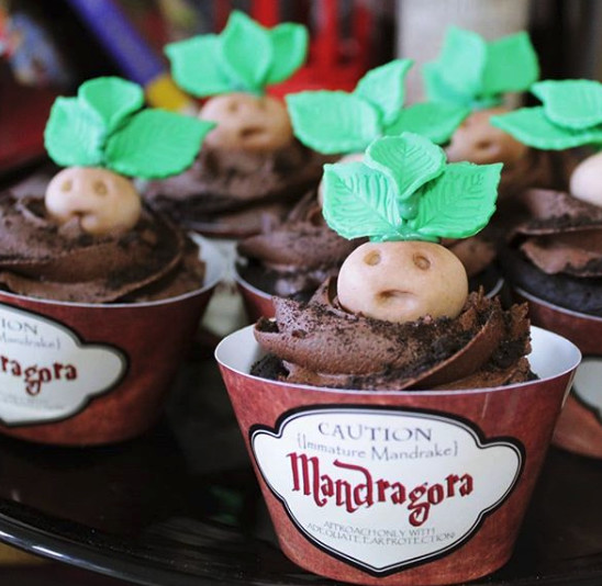 Mandrake Baby Cupcakes How To Throw A Harry Potter