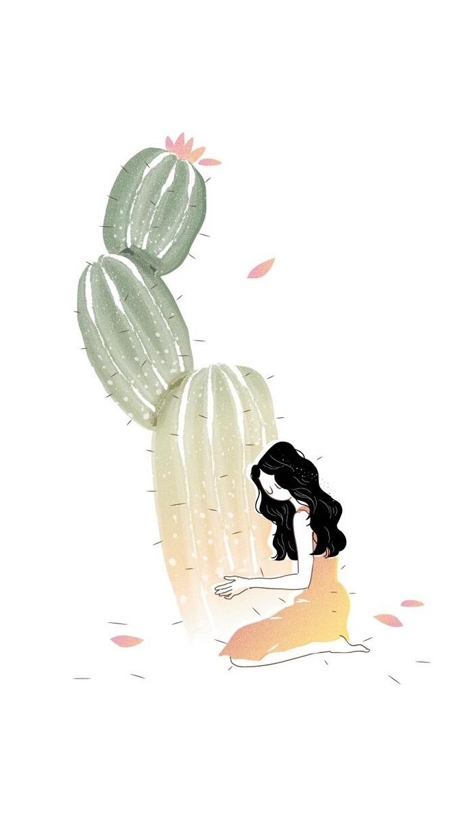 晚安心语插画190117:你是我仓皇的昨日,也是我热烈的余生