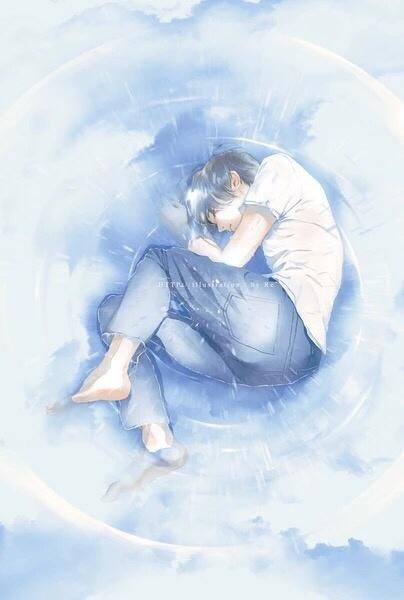 晚安心语插画190403:我要有骨气就不再找,你要有良心就死得远一点