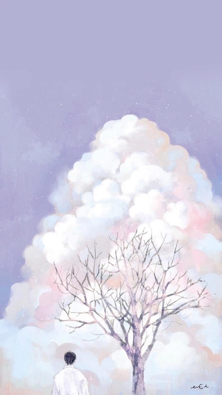 晚安心语插画181019:合适的感情才能叫坚持,不合适那叫僵持