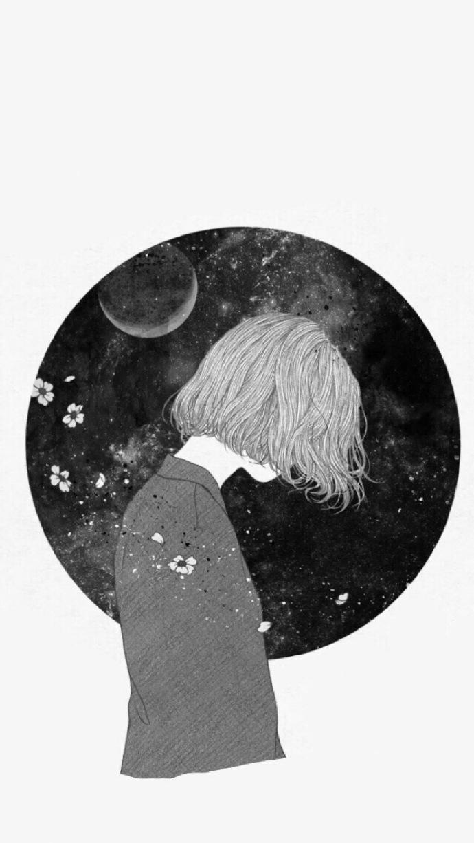 晚安心语插画180808:苦海无涯,回头是我