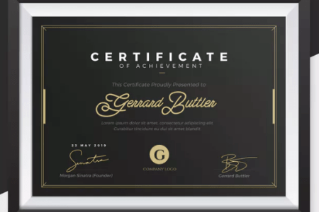 5 Printable Certificate of Authenticity Templates  DOC   PDF   EPS     Simple yet Elegant Certificate Template   simple yet elegant certificate template