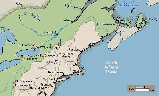 Ft Ticonderoga 13 Colonies Map