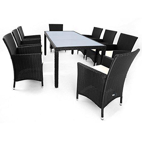 ᐅᐅ】17tlg PolyRattan Sitzgruppe Gartenmöbel Gartenset Lounge ...