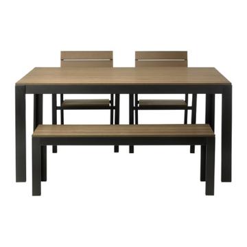 Ikea Gartentisch Holz.ᐅᐅ Ikea Falster 2 Sessel 1 Bank 1 Tisch Holz Braun