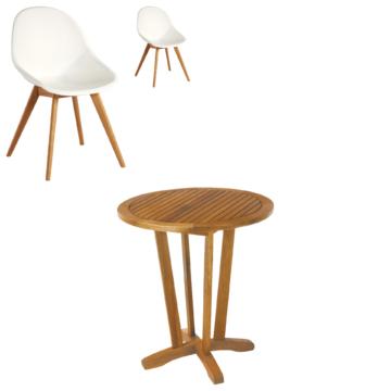 ᐅᐅ Gartenmobel Set Safari Palmas 1 Tisch 2 Stuhle Weiss