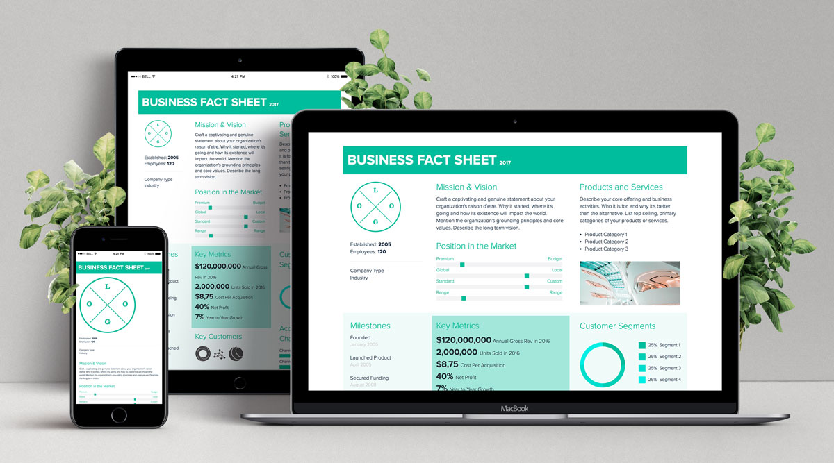 How To  Create a Fact Sheet   Xtensio