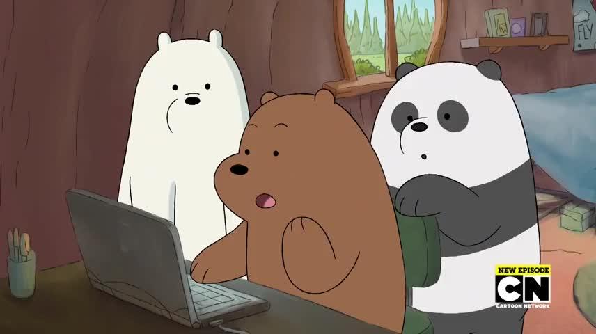 bear wrongs patiently cartoon