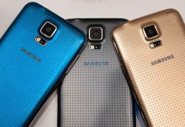 مقارنة أحجام Galaxy S5