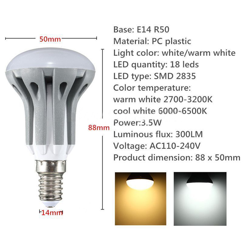 R50 Light Bulb Energy Saving