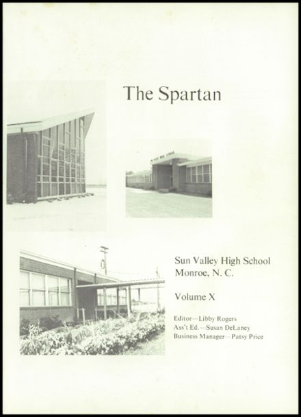 Explore 1971 Sun Valley High School Yearbook, Monroe NC ...