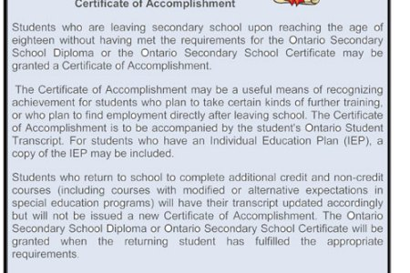 Free Professional Resume » ontario secondary school certificate ...