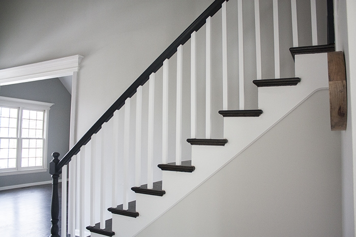 Black Railing You Re So Martha | Black And White Banister | Round | Deck | Light Wood Banister | Light Grey Grey White | Wrought Iron