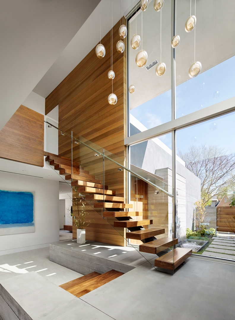 A Modern Stair Makes A Connection Your Modern Cottage | Designer Stairs For Houses | Cool | Contemporary | Fancy | Residential | Interior