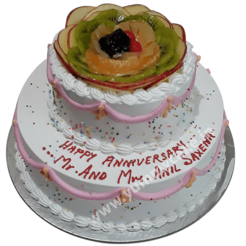 50th Wedding Anniversary Cakes   100  Eggless   Free Delivery 50th Wedding Anniversary Cakes