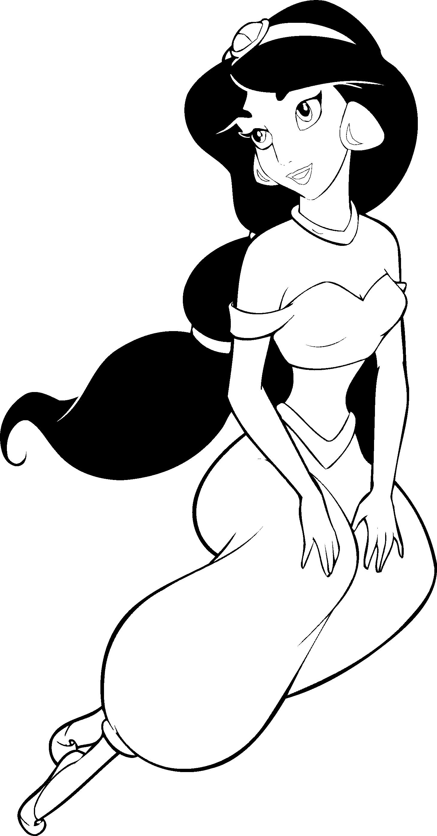 Disney Princesses Jasmine Coloring Sylvia