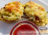 عکس به دستور غذا: کربن سیب زمینی با سوسیس و پنیر