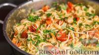 عکس به دستور غذا: Spaggey با گوجه فرنگی مرغ و گیلاس