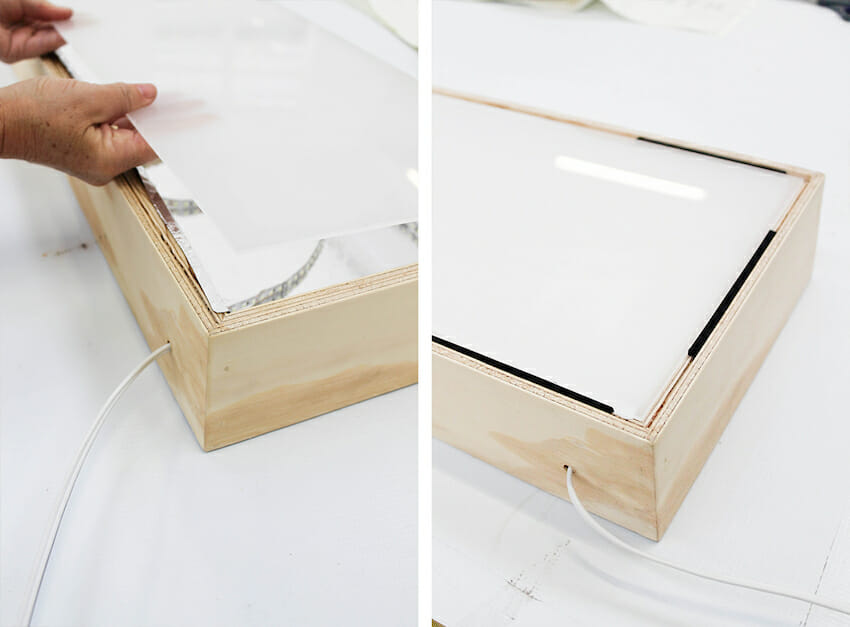 How Make Picture Frame Light Box