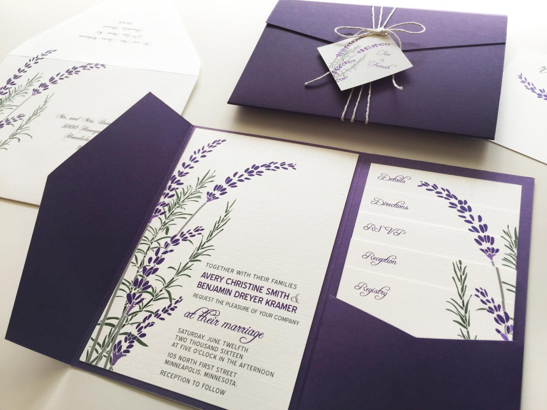 Rustic Wedding Invitation Layout
