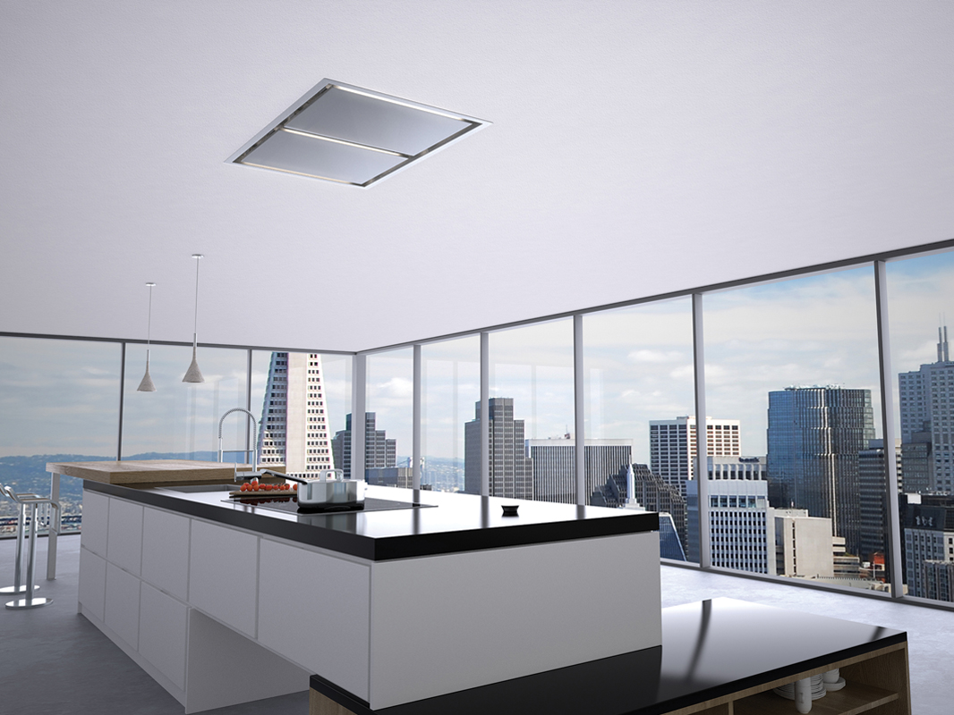 White Kitchen Vent Hood