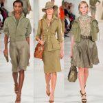 Модная одежда цвета хаки