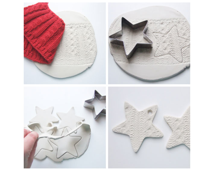 The photo shows - DIY Christmas decorations, fig. Making a star out of plastic