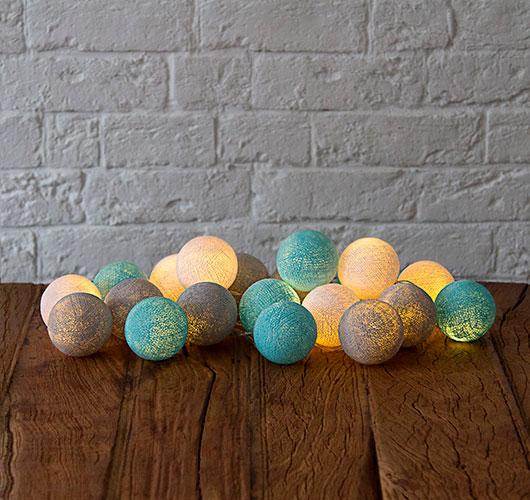 На фото изображено - Необычный декор: шары из нитей, рис. Гирлянда из гаров