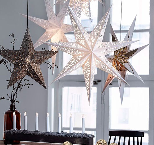 در عکس نشان داده شده - ستاره های فله از کاغذ. آماده سازی تعطیلات در خانه، شکل. خط